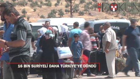 Bayramlaşmak için ülkelerine giden 16 bin Suriyeli Türkiye'ye döndü