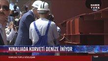 Cumhurbaşkanı Erdoğan İstanbul Fırkateyninin kaynağını yaptı