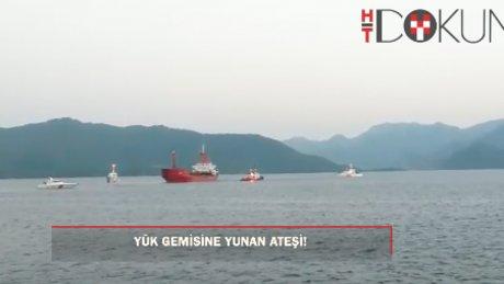 Yük gemisine Yunan ateşi!
