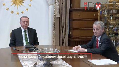 Cumhurbaşkanı Erdoğan, Kırım Tatar Türklerinin lideri Kırımoğlu'nu kabul etti