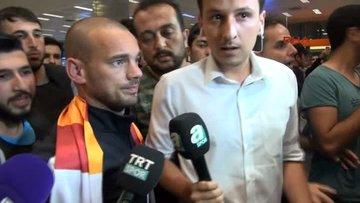 Sneijder, İstanbul'da coşkuyla karşılandı