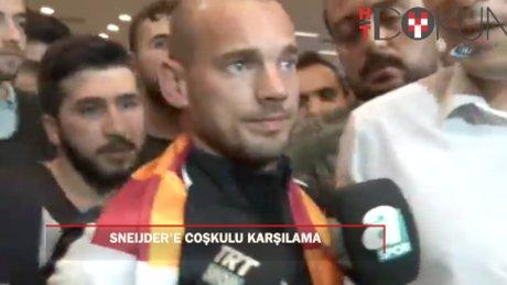 Sneijder'e İstanbul'da coşkulu karşılama