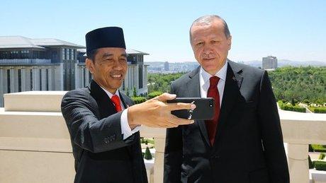 Endonezya Cumhurbaşkanı, Cumhurbaşkanı Erdoğan ile görüştü