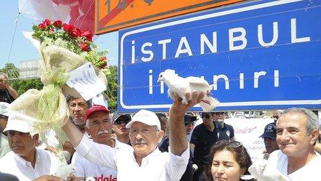 Kemal Kılıçdaroğlu, adalet yürüyüşünün 23. gününde İstanbul'da