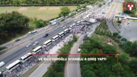 Ve Kılıçdaroğlu İstanbul il sınırında!