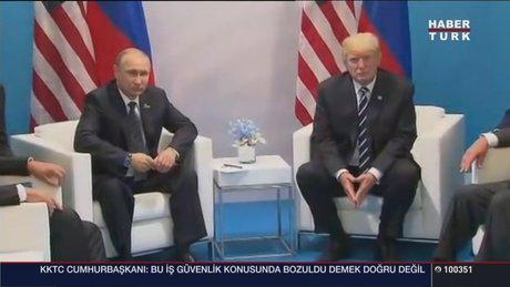 Trump ile Putin G-20'de ilk kez görüştü