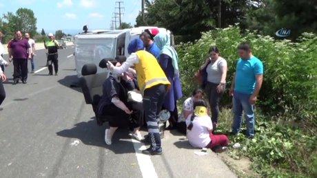 Kaza sonrası  koltukta tedavi oldular