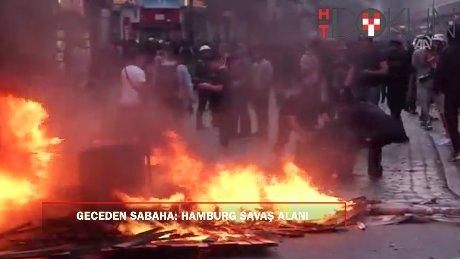 G20 protestolarındaki eylemler gece devam etti