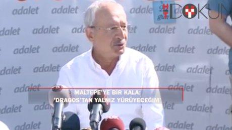 Kılıçdaroğlu'nu Kartal'da heykel karşıladı