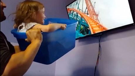 Kızını Disneyland'a götüremeyen baba, Disneyland'ı eve getirdi