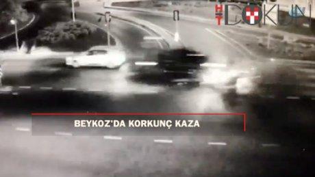 Lüks araçla gelen kaza: 1 ölü, 2 yaralı