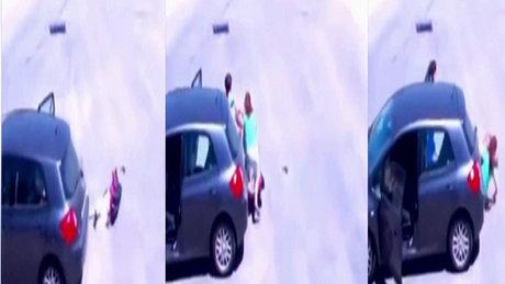 Çorum'da akılalmaz trafik kazası!