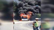 Isparta'da otobüs yangını