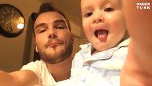 Babasıyla beatbox yapan sevimli bebek
