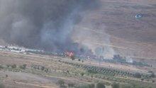 Kilis'te askeri alanda yangın