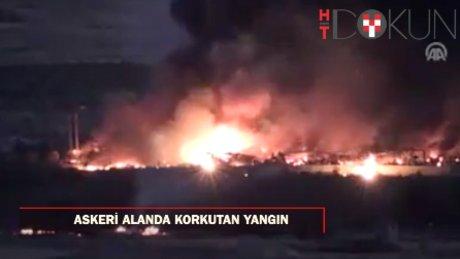 Kilis'te askeri alanda patlama ve yangın