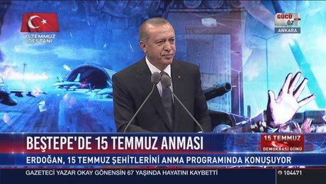 Cumhurbaşkanı Erdoğan 15 Temmuz Şehitlerini anma programında konuştu