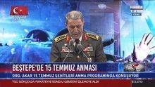 Hulusi Akar Beşpe'de 15 Temmuz anmasında konuştu