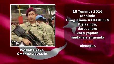Milli Savunma Bakanlığı, 15 Temmuz şehitleri anısına video paylaştı