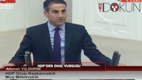 HDP'li Yıldırım'dan 15 Temmuz darbe girişimine kınama ve OHAL vurgusu
