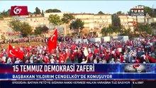 Başbakan Yıldırım Milli Birlik Yürüyüşü'nde