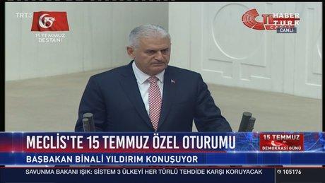 Başbakan Binali Yıldırım 15 Temmuz Özel Oturumu'nda konuştu