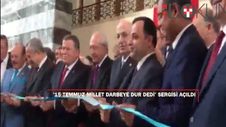 Meclis'te '15 Temmuz Millet Darbeye Dur Dedi' sergisi açıldı