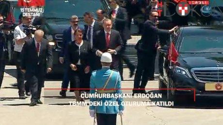 TBMM'deki özel oturuma Cumhurbaşkanı Erdoğan da katıldı