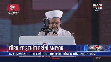 Diyanet İşleri Başkanı Mehmet Görmez, TBMM'de dua etti