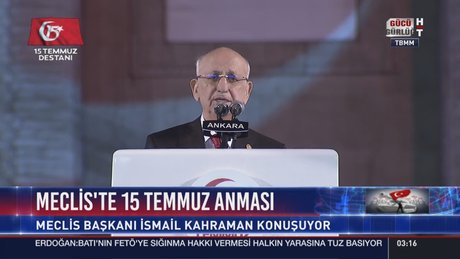 Meclis Başkanı İsmail Kahraman TBMM'de konuştu