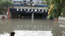 Bayrampaşa Metro İstasyonu'nu su bastı