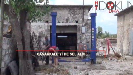 Sel Çanakkale'de tahribata neden oldu