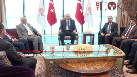 Cumhurbaşkanı Erdoğan'a parti merkezinde Tunuslu misafir