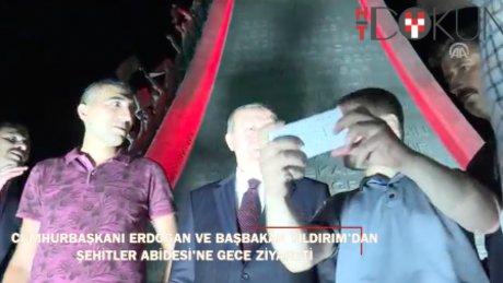 Cumhurbaşkanı Erdoğan Şehitler Abidesi'ni ziyaret etti