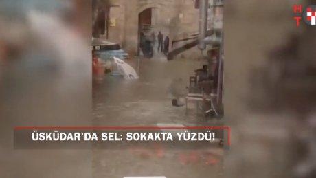 Üsküdar'dan temmuz manzaraları: Sokakta yüzen adam!