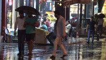 İstanbul'da beklenen yağmur yağdı