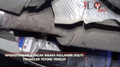 Sigara kaçakçılarına operasyon tütüne yöneltti