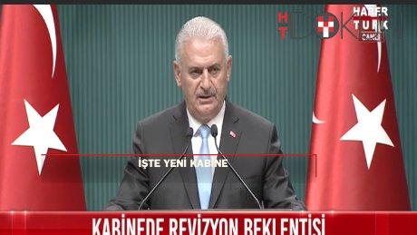 Başbakan Yıldırım yeni kabineyi açıkladı: 5 bakan gitti, 6 bakan yer değiştirdi