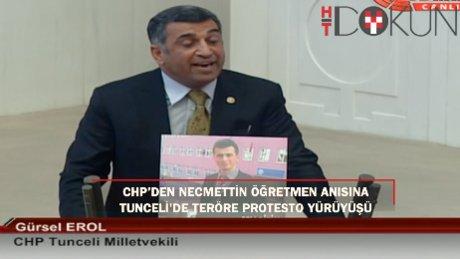CHP'den Necmettin öğretmen adına teröre protesto yürüyüşü