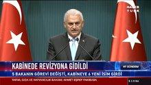 Başbakan Binali Yıldırım yeni kabineyi açıkladı