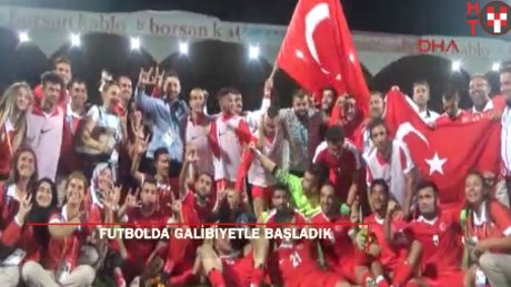 İşitme Engelliler Futbol Milli Takımı galibiyetle başladı