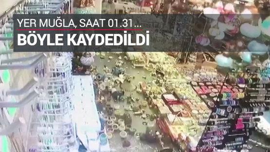 Deprem anı böyle kaydedildi
