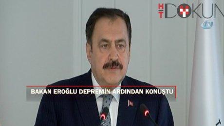"""Eroğlu: """" Bodrum'daki depremde büyük bir maddi kayıp yok"""""""