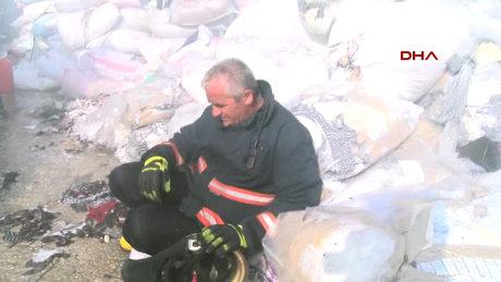 İstanbul Çatalca'da sanayi sitesinde yangın çıktı