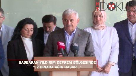 """Başbakan Yıldırım: """"Bodrum'da 3 yıkık bina, 32 binada hasar var"""""""