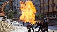 Başkentte doğalgaz borusu patladı