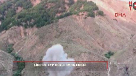 Terör örgütü PKK'ya ait sığınak imha edildi