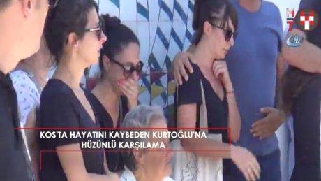 Depremde hayatını kaybeden Sinan Kurtoğlu'na gözü yaşlı karşılama