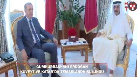 Cumhurbaşkanı Erdoğan'ın üçünçü durağı Katar