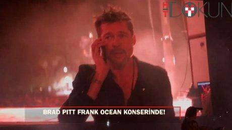 Brad Pitt, Frank Ocean konserinde sahneye çıktı